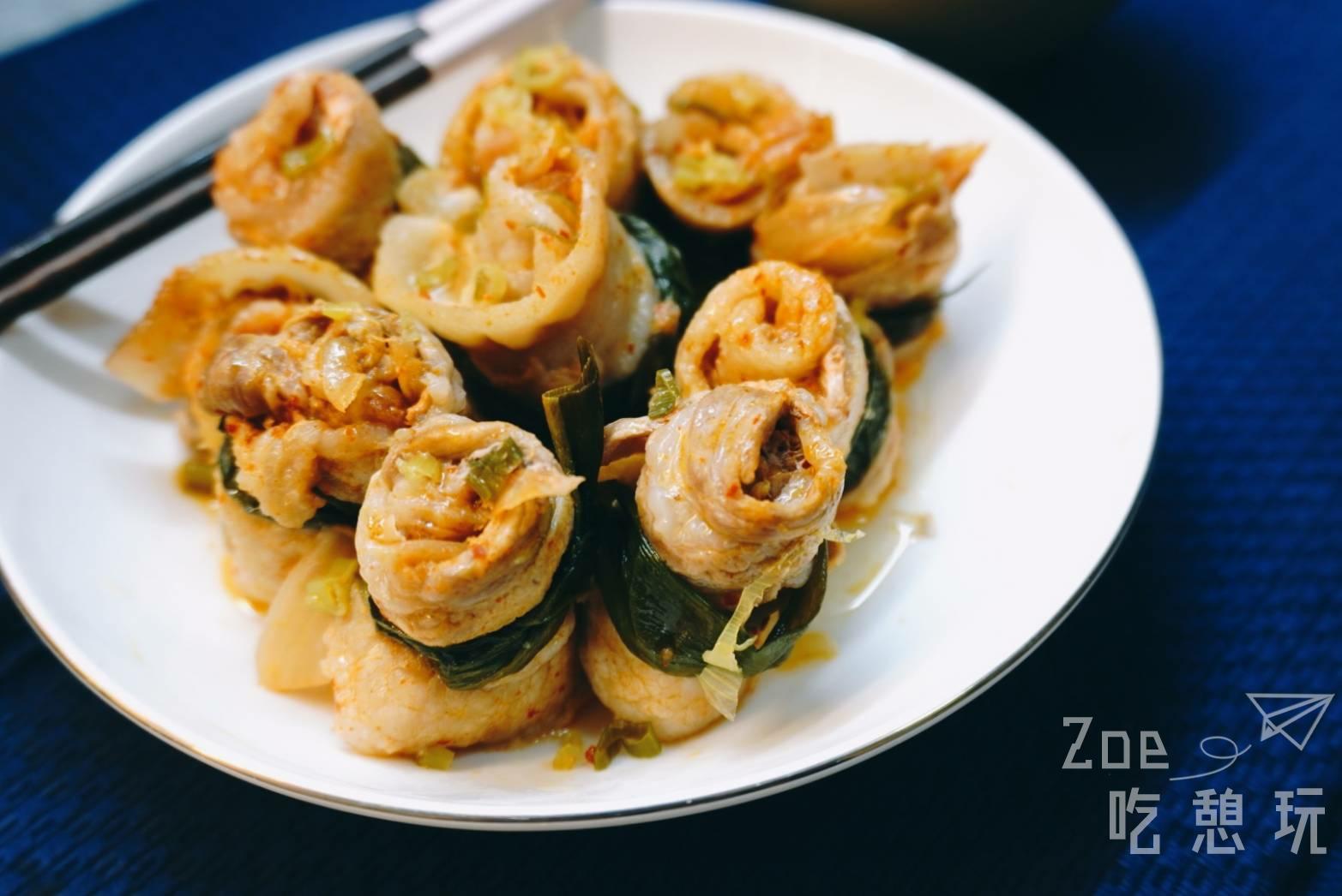 宅在家做料理系列-清蒸韓式泡菜五花捲,即使沒廚藝只要有耐心就能成功